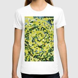 Yellow and Blue Crystallized Swirls T-shirt