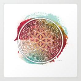 Meditative Flower Of Life Art Print