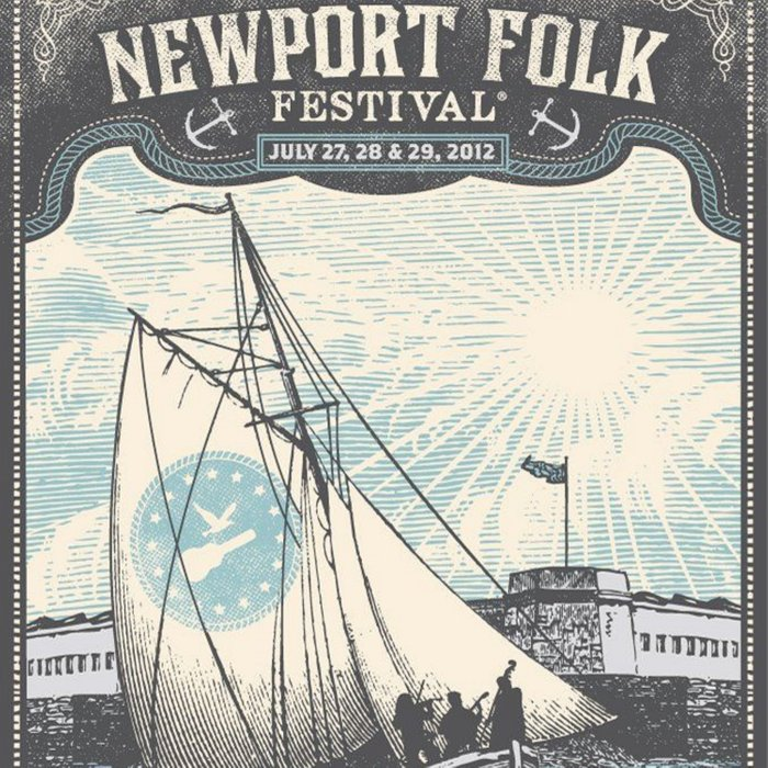 Vintage 2012 Newport, Rhode Island Folk Festival Lithograph Poster Comforters