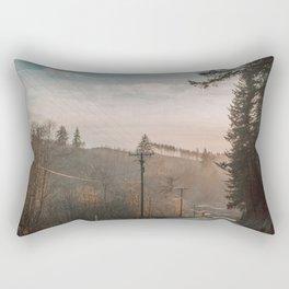 Sunlit road Rectangular Pillow
