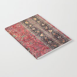 Antique Persian Red Rug Notebook