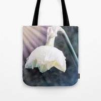 shining Tote Bags featuring Shining Light by Lynn Bolt