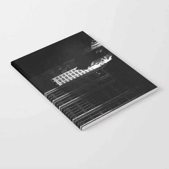 architecture immeuble noir blanc 4 Notebook