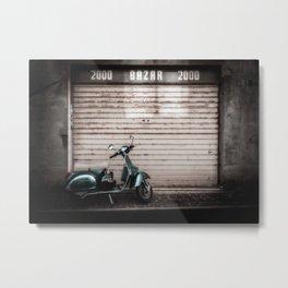 Lambretta scooter in an Italian back street Metal Print