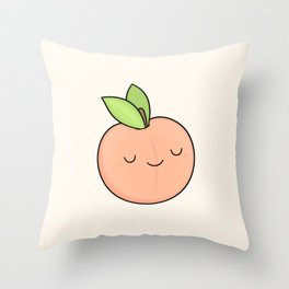 Happy Peach Throw Pillow