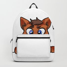 Happy Dog Cute Doggie Puppy Puppie Present Cartoon Backpack