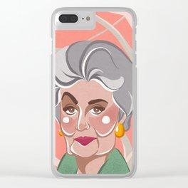Golden Girls - Dorothy Zbornak Clear iPhone Case