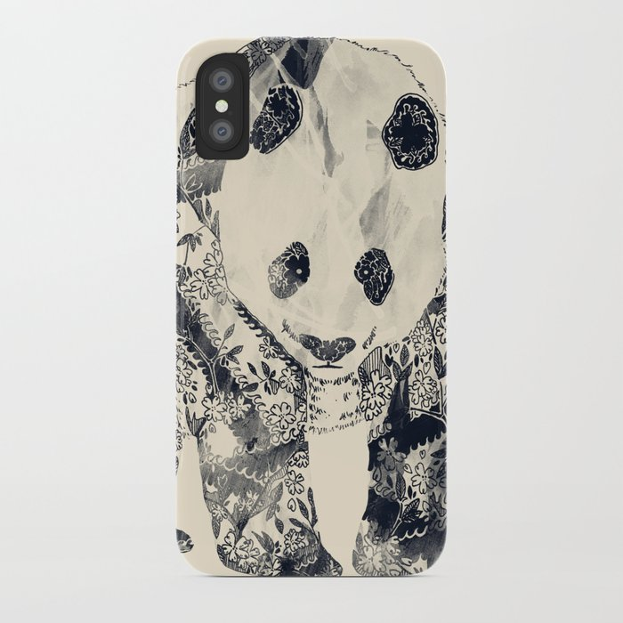 Tattooed Panda {cream} iPhone Case
