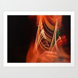 Energetic abstract light Art Print