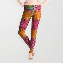 swirl doodle painting trippy pattern Leggings