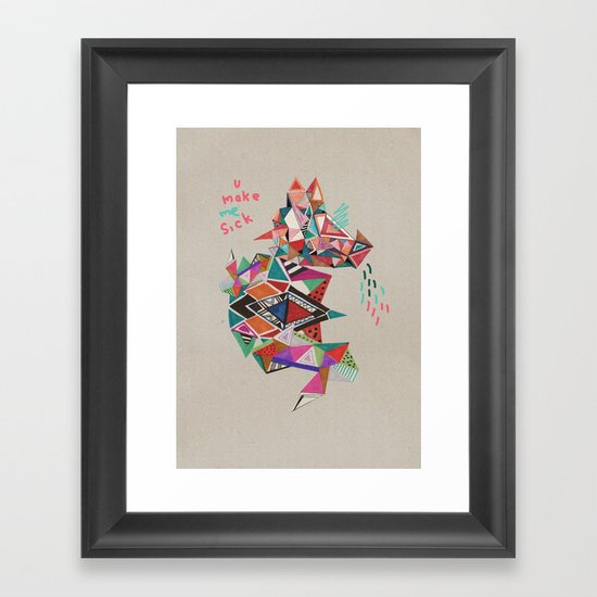 S I C K  Framed Art Print