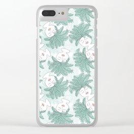 Fern-tastic Girls in Sage Green Clear iPhone Case