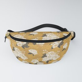 Glam Florals - Gold Fanny Pack