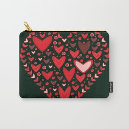 Love concept of hearts in the shape of a heart Carry-All Pouch