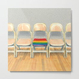 Rainbow Chair Metal Print