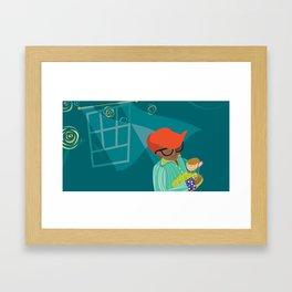 Monkey Lullaby Framed Art Print
