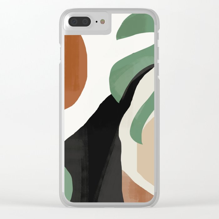 Abstract Art 37 Clear iPhone Case