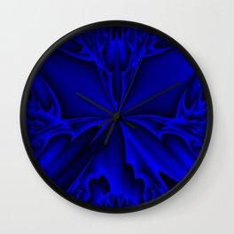 Midnight Blue Abstract 5 Wall Clock