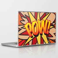 comic book Laptop & iPad Skins featuring Comic Book POW! by The Image Zone