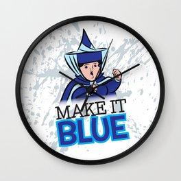 "Merryweather ""Make It Blue"" / Sleeping Beauty Wall Clock"