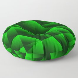 Dark overlapping sheets of green paper triangles. Floor Pillow