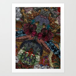 Psychedelic Botanical 14 Art Print