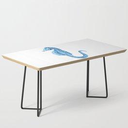 Seahorse nautical blue watercolor Coffee Table
