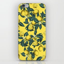 Lemon and Leaf Pattern III iPhone Skin