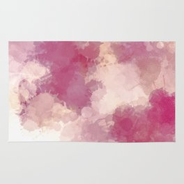 Mauve Dusk Abstract Cloud Design Rug