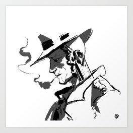 nick valentine — square Art Print