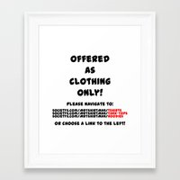 drink Framed Art Prints featuring Drink by Mr. T-Shirt Man