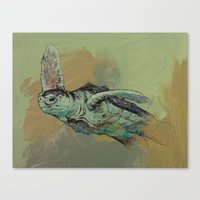 sea turtle Canvas Prints featuring Sea Turtle by Michael Creese