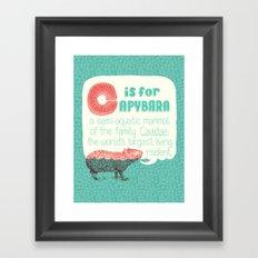 C is for Capybara Framed Art Print