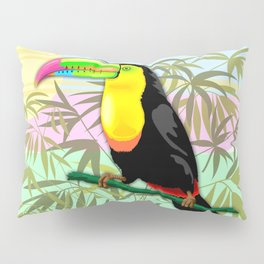 Toucan Wild Bird from Amazon Rainforest Pillow Sham