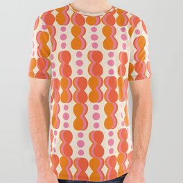 Uende Sixties - Geometric and bold retro shapes All Over Graphic Tee