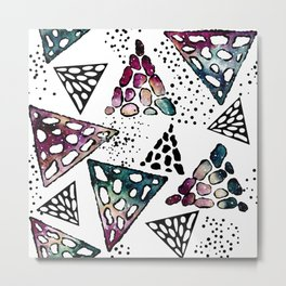 Galaxy Geometric Pattern 26 Metal Print