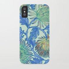 Moonlit Chrysanthemum iPhone X Slim Case