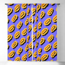 Super Mario Bros. (NES) coins pattern | blue sky background Blackout Curtain