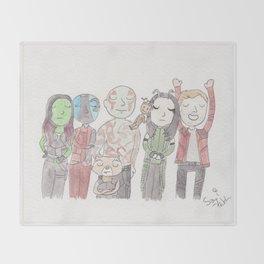 Space Family Throw Blanket