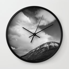 Landscape Minimalist Photography Waterton | Black and White | black-and-white | bw Wall Clock