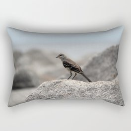 Bird On A Rock By The Sea Rectangular Pillow