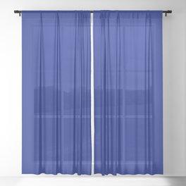 Solid Shades - Indigo Sheer Curtain