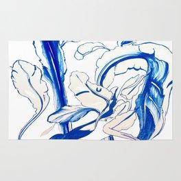 Plant in Blue Marker - Leaf of Life Miracle Leaf - Original Blue Rug