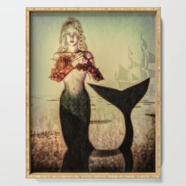 The Lonely Mermaid Serving Tray