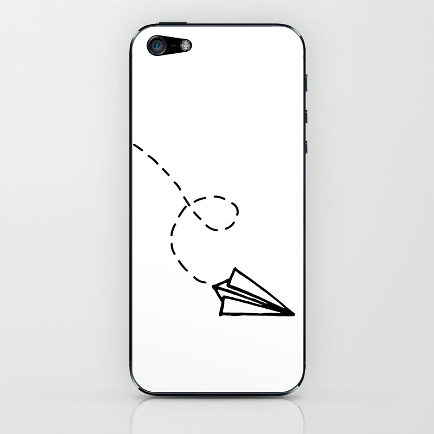 Send It Simple Paper Airplane Drawing Iphone Skin By
