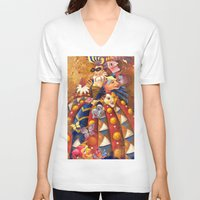 carnival V-neck T-shirts featuring carnival by Elena Trupak
