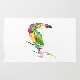 Toucan in Watercolor Rug