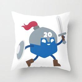 20 Sided Hero Throw Pillow