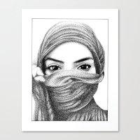 kiki Canvas Prints featuring Kiki by BenHucke