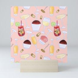 Happy Wine Pattern Mini Art Print